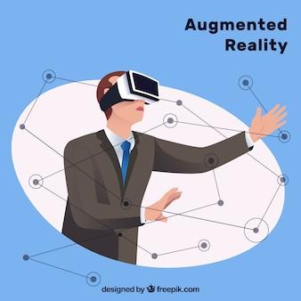 Fondo de realidad aumentada con dispositivo