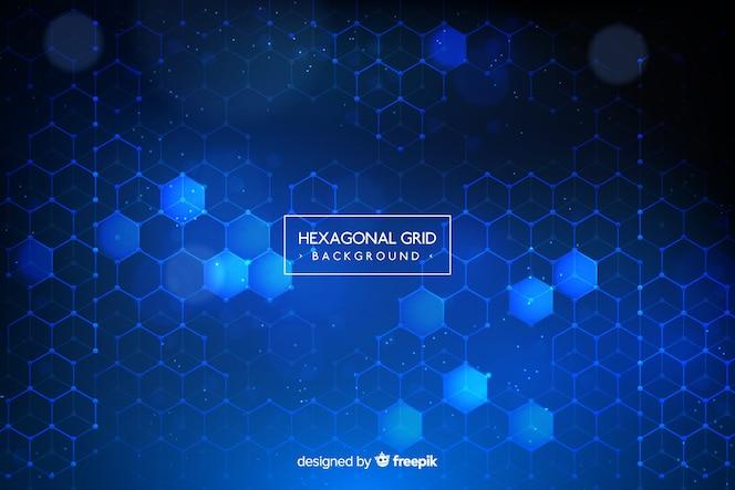 Fondo de rejilla hexagonal