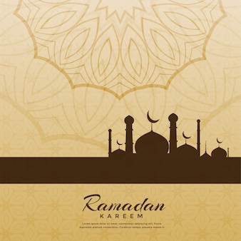 Fondo de saludo de festival de ramadan kareem creativo