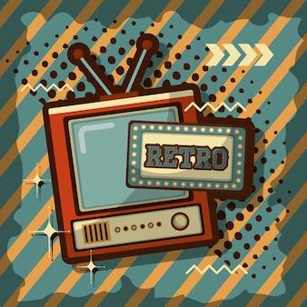 Fondo de señal de antena de televisión