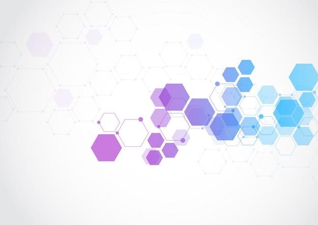 Fondo de tecnología abstracta de estructura molecular