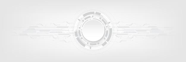 Fondo de tecnología abstracto gris blanco