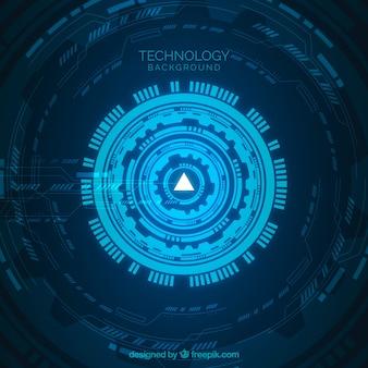 Fondo de tecnología con color azul
