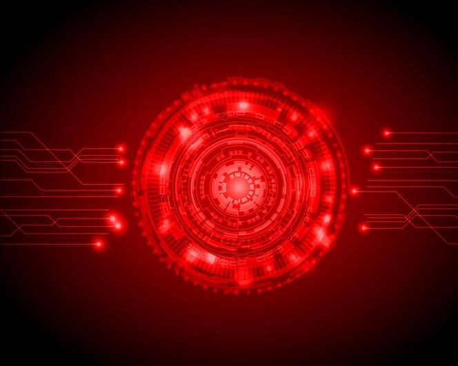 Fondo de tecnología digital abstracto círculo