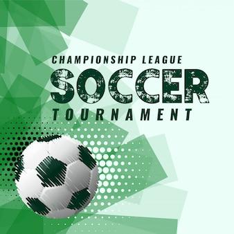 Fondo de torneo de fútbol abstracta en estilo grunge