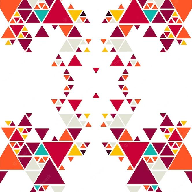 Fondo de triángulo colorido abstracto