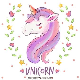 Fondo de unicornio elegante
