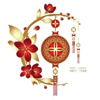 Fondo de vector de año nuevo chino