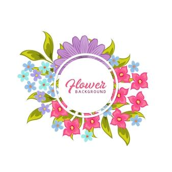 Fondo de vector floral
