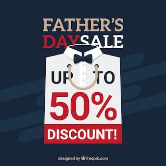 Fondo de venta de día del padre con camisa blanca