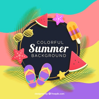 Fondo de verano con estilo moderno