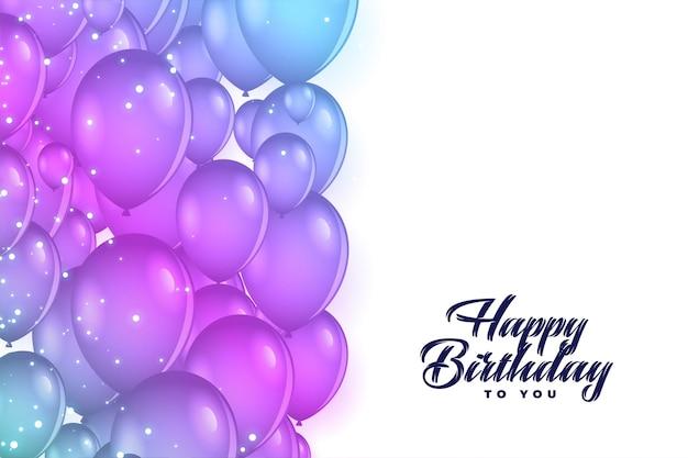 Fondo de decoración de globos de feliz cumpleaños