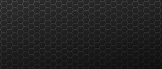 Fondo de decoración hexagonal negro brutal rejilla poligonal geométrica futurista
