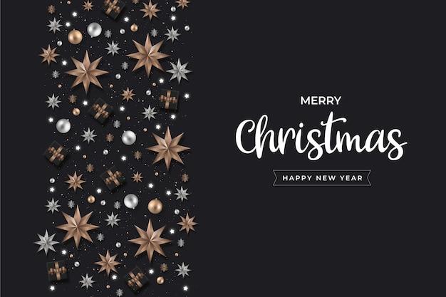 Fondo de decoración de navidad realista minimalista