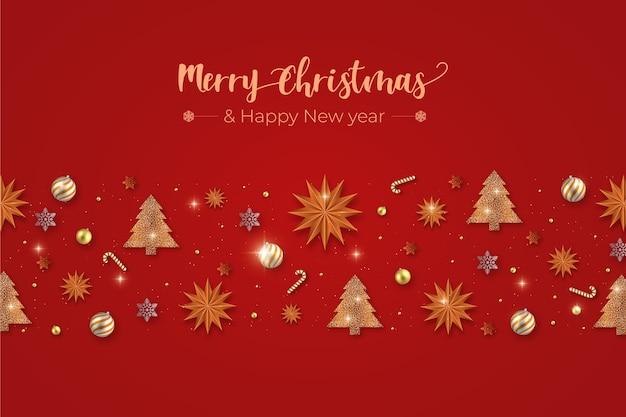 Fondo de decoración de navidad realista