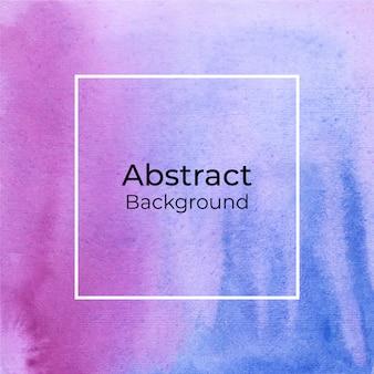 Fondo decorativo abstracto acuarela rosa y azul