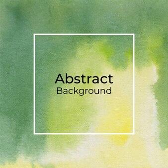 Fondo decorativo abstracto acuarela verde y amarillo
