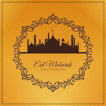 Fondo decorativo abstracto eid mubarak