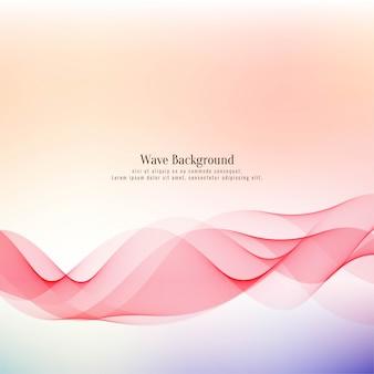 Fondo decorativo abstracto elegante onda