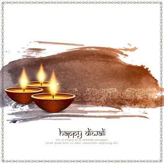 Fondo decorativo abstracto feliz diwali