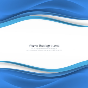 Fondo decorativo abstracto onda azul