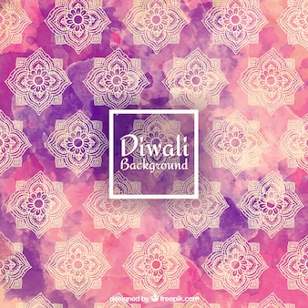 Fondo decorativo de acuarela de diwali