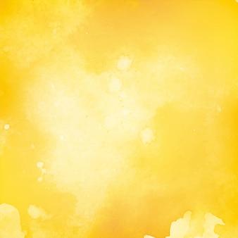 Fondo decorativo amarillo abstracto de la acuarela