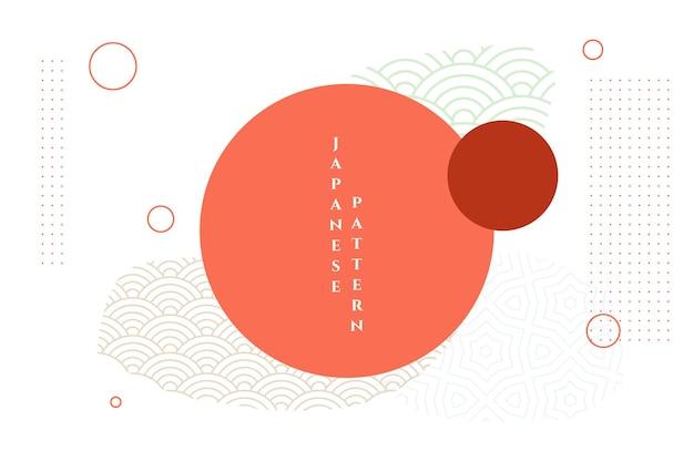 Fondo decorativo asiático japonés abstracto