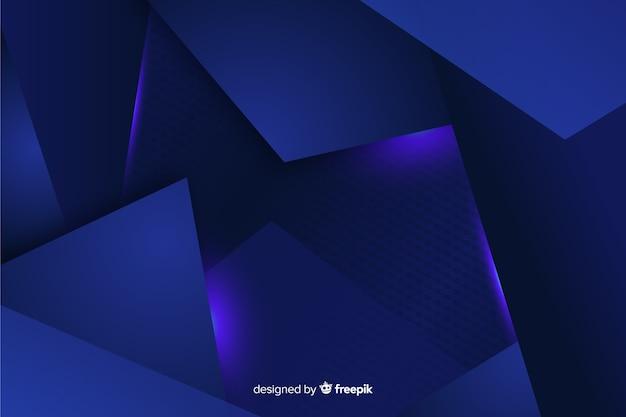 Fondo decorativo azul metálico abstracto