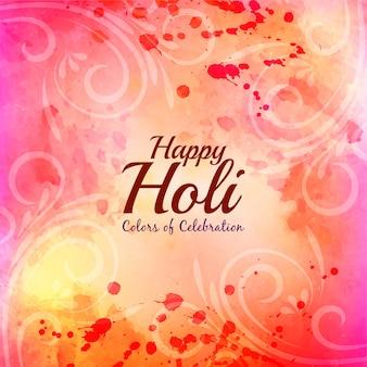 Fondo decorativo de celebración happy holi