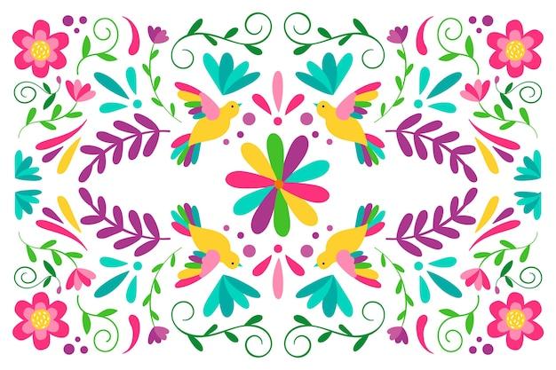 Fondo decorativo colorido mexicano