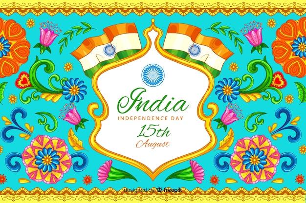 Fondo decorativo del día de la independencia de la india