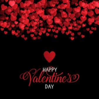 Fondo decorativo del día de san valentín con diseño de corazones