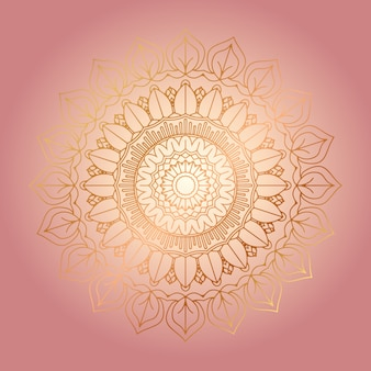 Fondo decorativo con diseño de mandala dorado