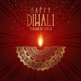 Fondo decorativo de diwali