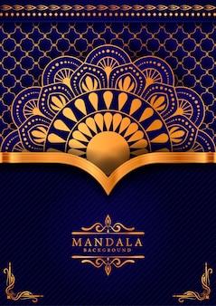 Fondo decorativo con un elegante diseño de mandala de lujo.