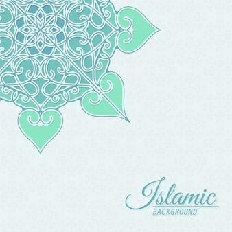 Fondo decorativo de estilo islámico con mandala
