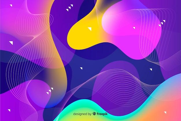 Fondo decorativo de formas abstractas que fluye