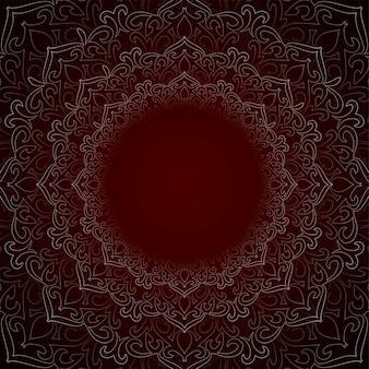 Fondo decorativo hermoso abstracto del mandala
