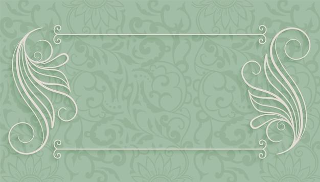 Fondo decorativo marco floral vintage