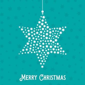 Fondo decorativo de navidad con estrella colgando