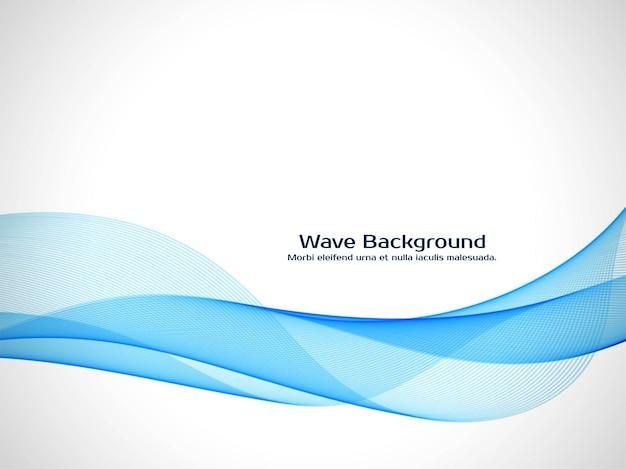 Fondo decorativo de onda azul moderno