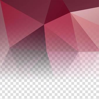 Fondo decorativo poligonal transparente moderno