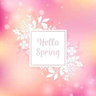 Fondo decorativo primavera borrosa