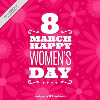 Fondo decorativo rosa del día de la mujer