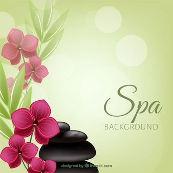 Fondo decorativo de spa