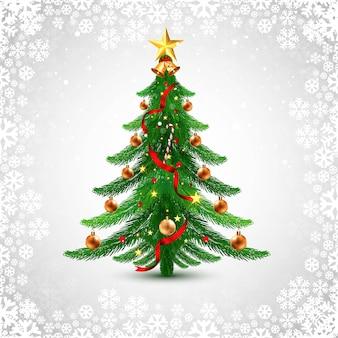 Fondo decorativo de la tarjeta de felicitación del árbol de navidad del día de fiesta