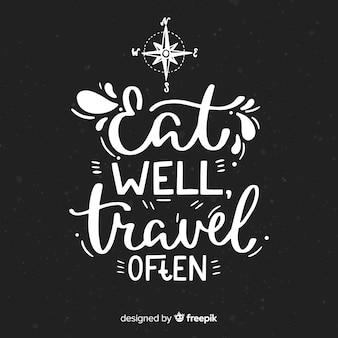 Fondo decorativo de viaje estilo letras