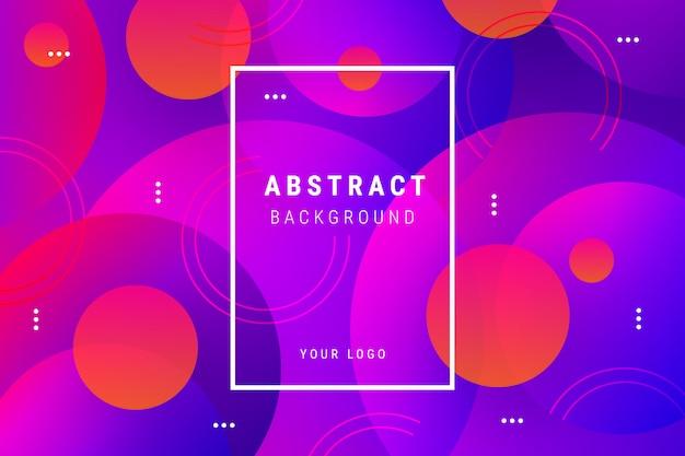 Fondo degradado abstracto con formas circulares