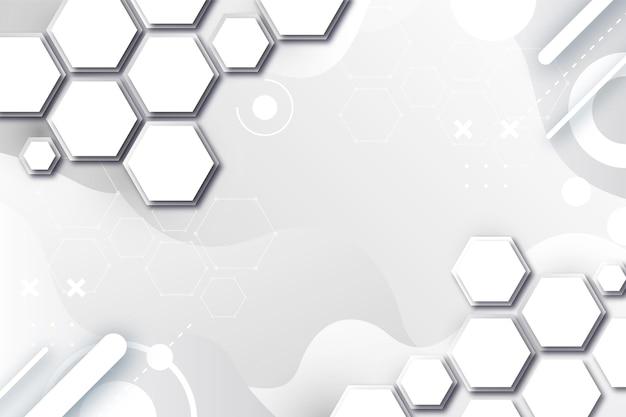 Fondo degradado abstracto haxagons blanco